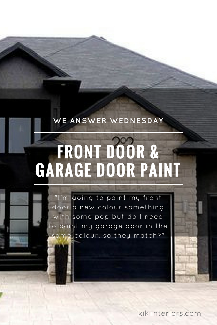 We Answer Wednesday Matching Front Door And Garage