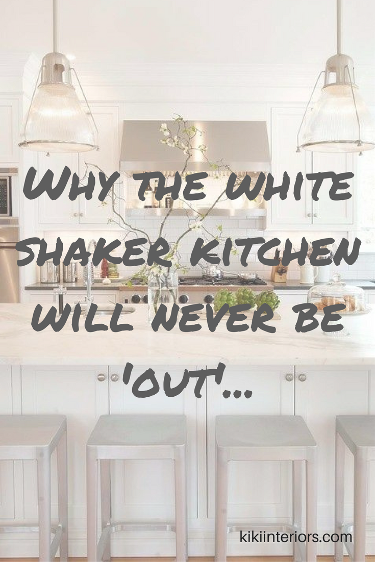 The White Shaker Style Kitchen will never be \'out ...