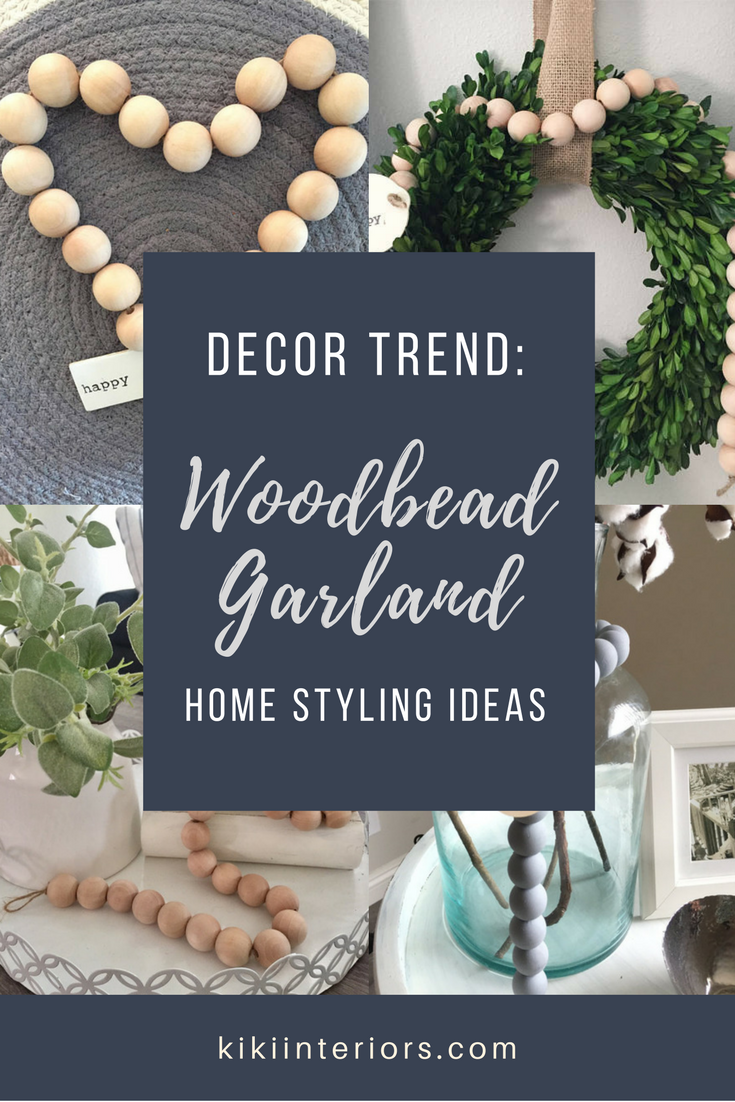 Wood Bead Garland A Decor Trend We Love Kikiinteriors Com