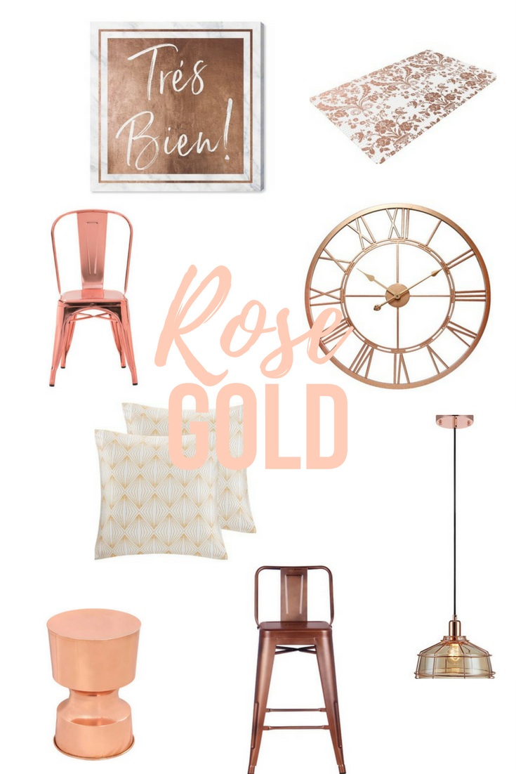 Decorate rose gold